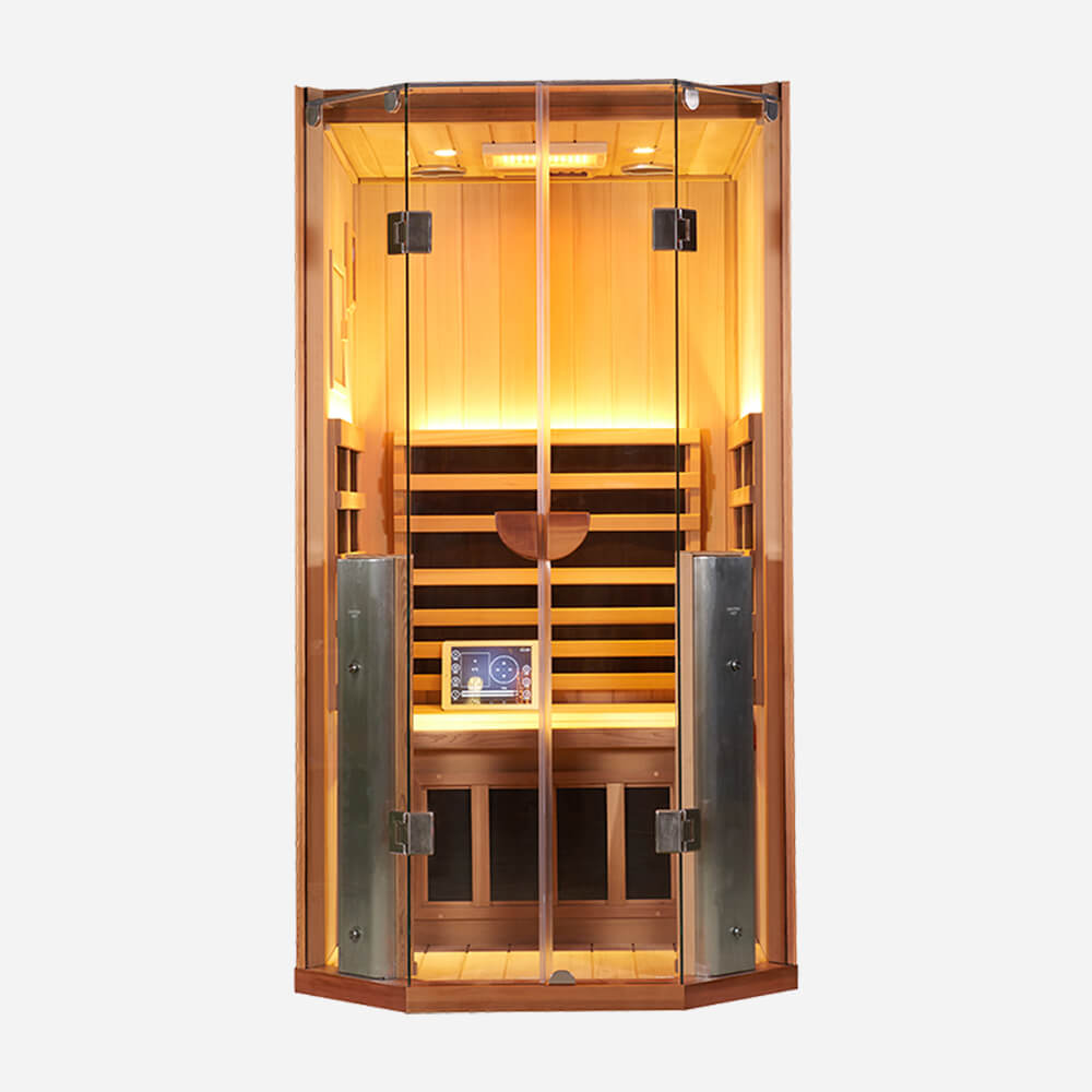1-Person clearlight Sanctuary Full Spectrum Sauna Cedar 1